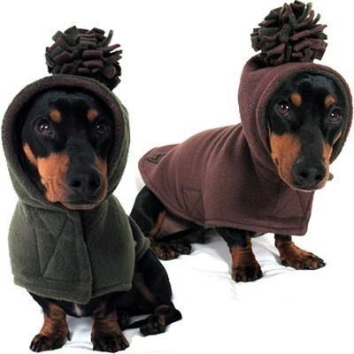 Eco Dog Coat  Recycled Green Brown Fleece  by anniessweatshop, $55.00