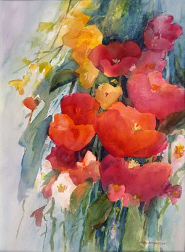Watercolor of flowers