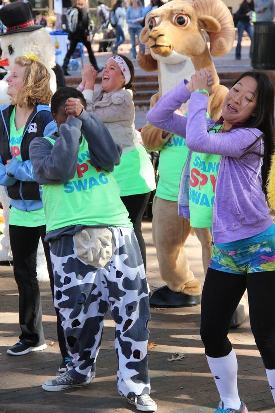 smang it + unc dance marathon morale