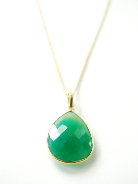 Uluwehi necklace emerald and gold necklace by kealohajewelry