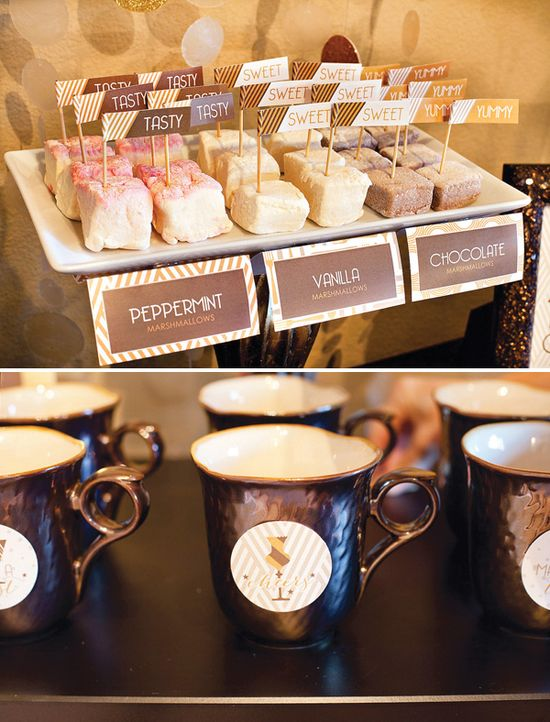 Gourmet hot chocolate bar + FREE Printables