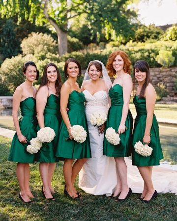 #Emerald #Wedding ... BRIDESMAIDS DRESSES ... #Wedding #Ideas for brides, grooms, parents & planners ... itunes.apple.com/... plus how to organise an entire wedding, with the money you have available. ? The Gold Wedding Planner iPhone #App ?