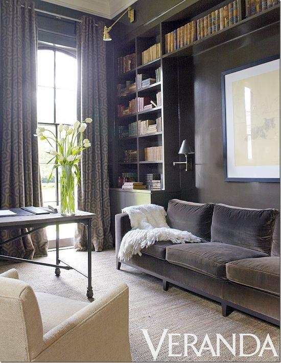 Cozy library.  Colors, built-ins.