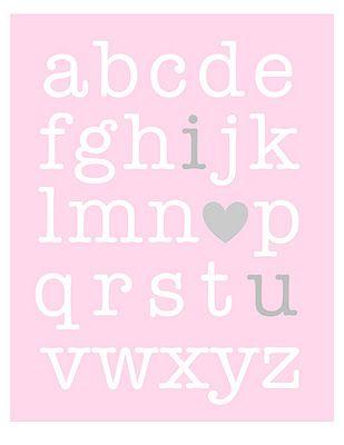 """Valentine's """"i ? u""""  free print"""