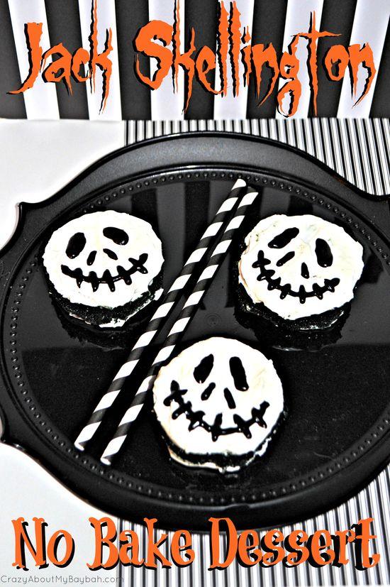 Jack Skellington No Bake Dessert #Halloween #Dessert #NoBake