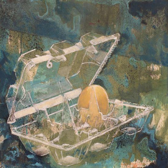 """roberto valentin carrera; Mixed Media, 2012, Painting """"H U E V O ( egg )"""""""