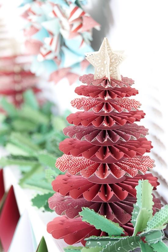 Cricut® Rosette Christmas Tree #christmas #craft