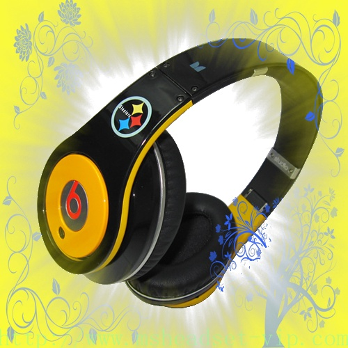 Monster Beats By Dre Studio Pittsburgh Steelers High Definition Headphones