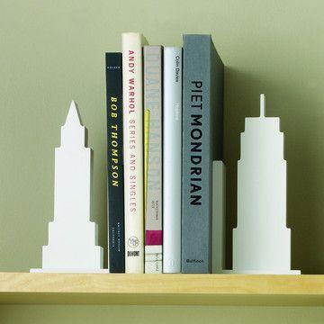 Design Ideas: Skyline Bookends 2Pk White