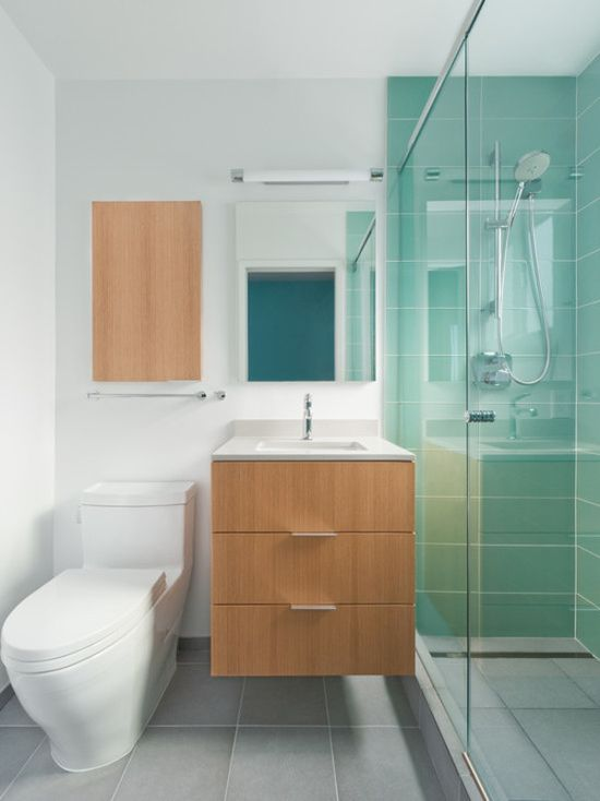 Sometime small #bathroom designs can be just as cool as larger ones!