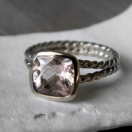 14k Rose Gold and Morganite Custom  Ring