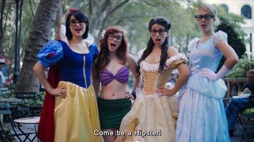 Hipster Disney Princess Videos #Funny #Disney #Cute trendhunter.com