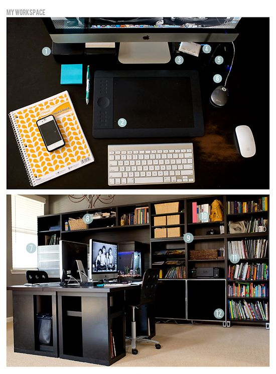 beautiful office space of photographer Stacey Haslem