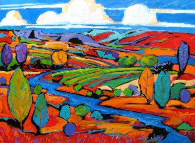 Southwest Fauve Landscape Painting at ArtistRising.com