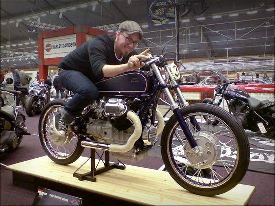 """Madame Guzzi""Boardtracker - Pipeburn - Purveyors of Classic Motorcycles, Cafe Racers & Custom motorbikes"