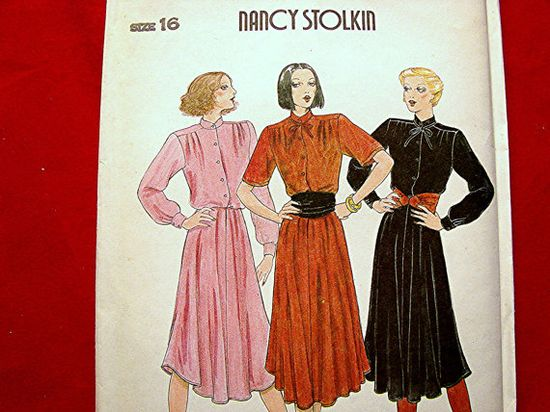 1980s Dress Pattern Butterick Designer by PatternsFromThePast, $14.50