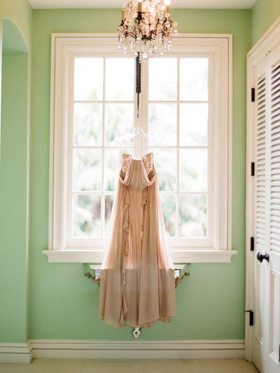 nude dress #wedding #dress