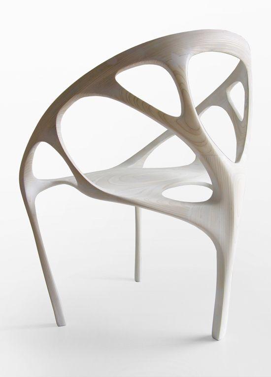 Brazil (2009)  //  Plywood, CNC machined  //  0.65m x 0.90m x 0.70m  //  Daniel Widrig