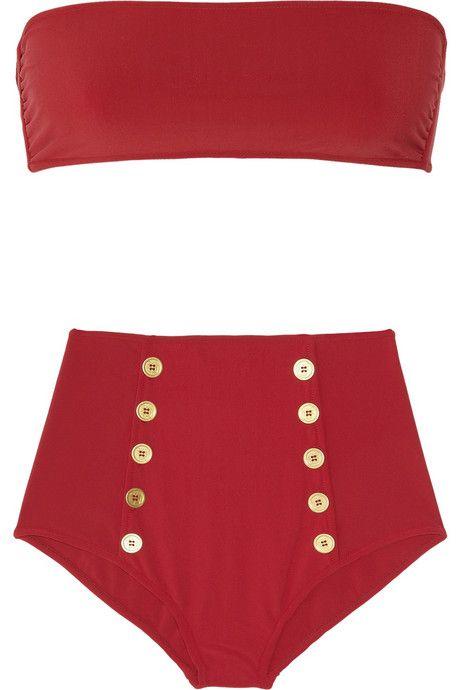 High-Waisted Bandeau Bikini