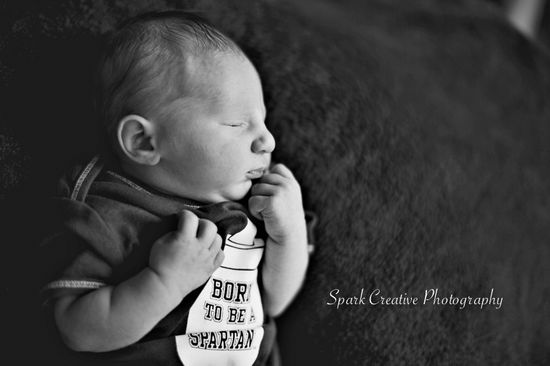 Newborn baby boy