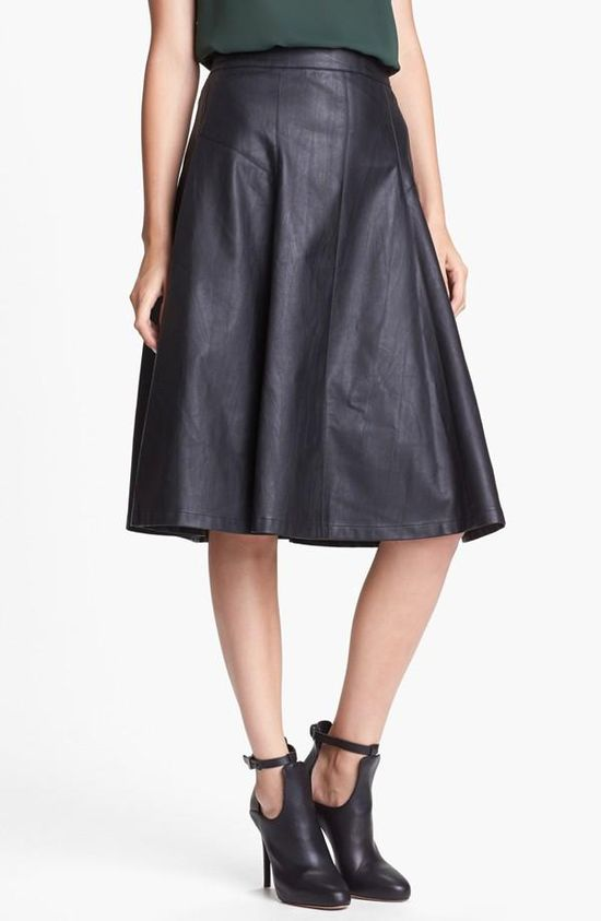 Need! Faux Leather Midi Skirt
