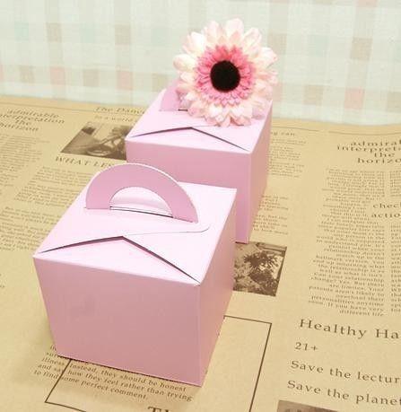 Pink Cake Boxes.