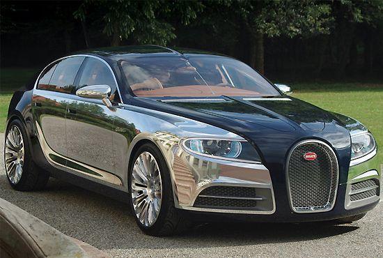 Bugatti unveils chrome-layered concept car for 2013
