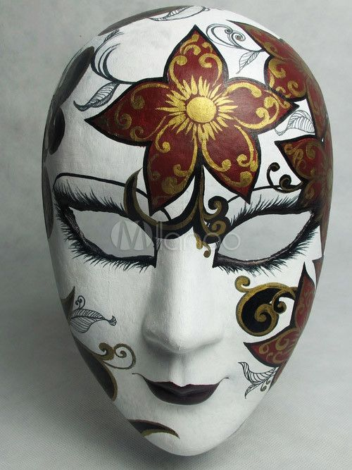 Beautiful Flower Patterned Halloween Mask