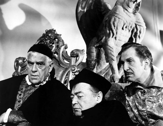 The Raven, Boris Karloff, Peter  Lorre, Vincent Price