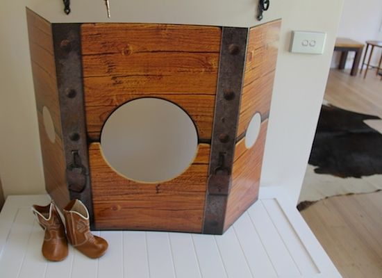 'The Stocks' photo prop ready for funny photos