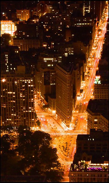 Flatiron building - Taken from the Empire State Building observation deck