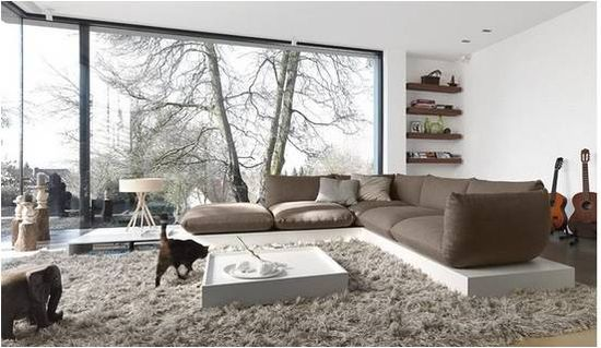 Interior design Modern living room window. Modern but comfy :-)