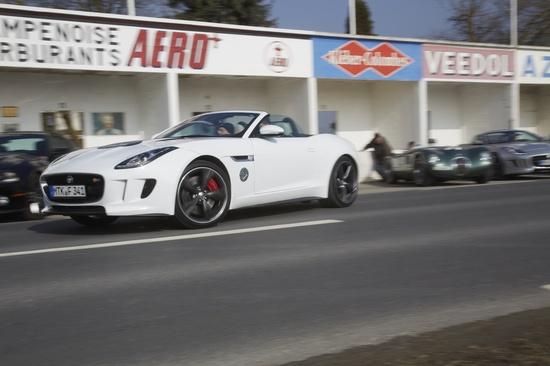 Jaguar 'Bloodline' collection of sports cars together in unique convoy