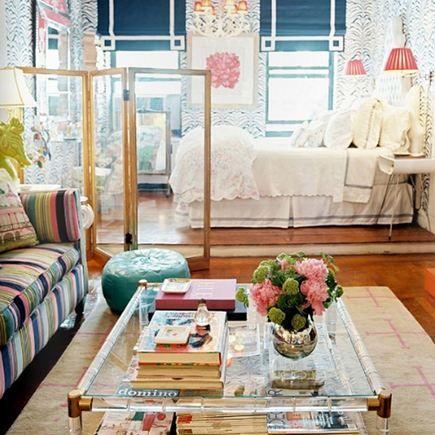 eclectic studio apartment by Elizabeth Bauer. Lonny mag