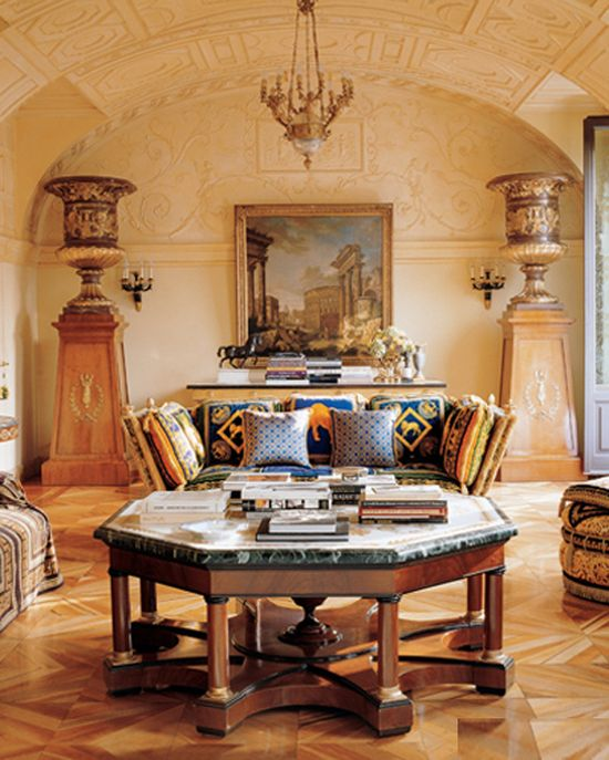 Living room design of Donatella Versace Living Room Design Inspired by Celebrity Living Room