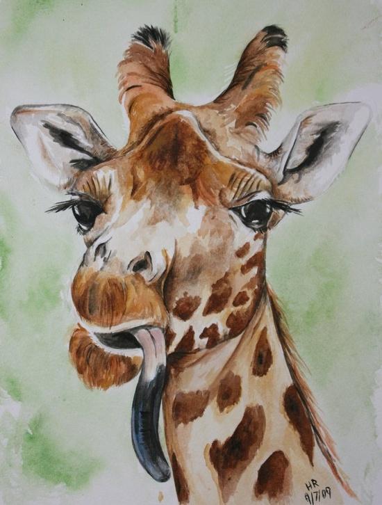 Giraffe by ~Helenr251 on deviantART
