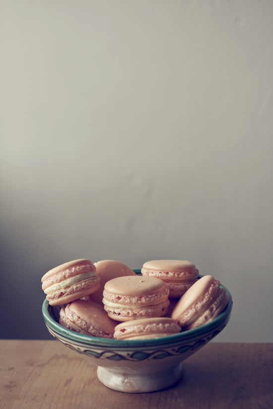 vanilla and rose macarons