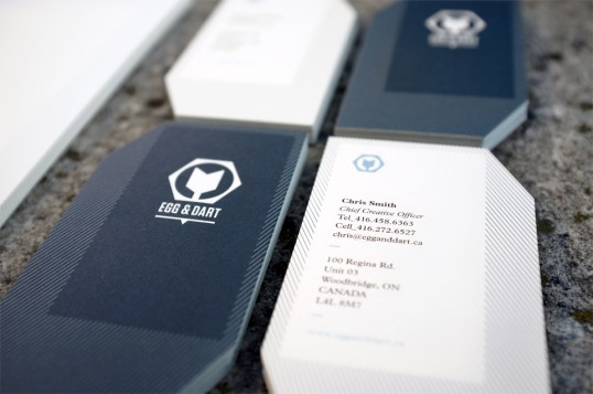 di-cut business cards