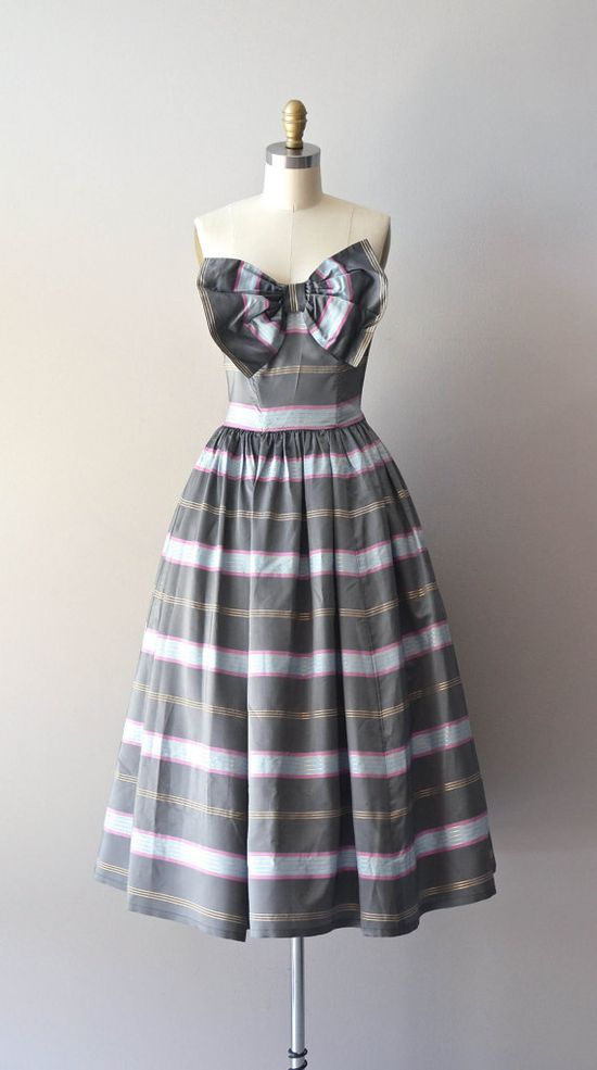 1950s Strapless Party Dress
