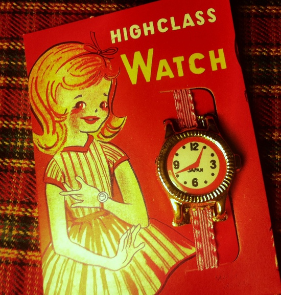 Vintage 60's Toy Watch for Girls Made in Japan.