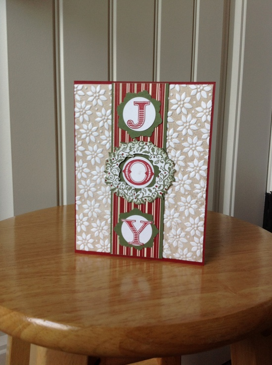 Stampin Up Christmas card - Christmas JOY. $3.50, via Etsy.