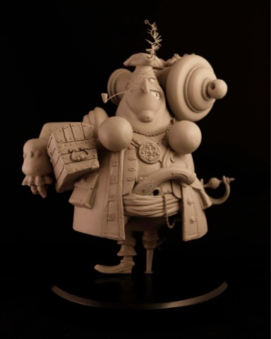 #pirate #maquette sculpted by Brooke Howell; character design by Denis Zilber