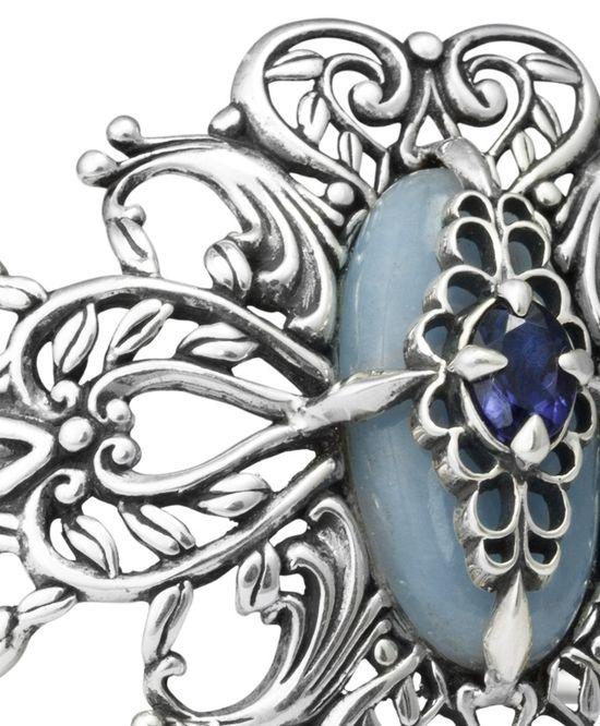 Carolyn Polllack Promenade Cuff Bracelet // #sterling silver #blue #gemstones