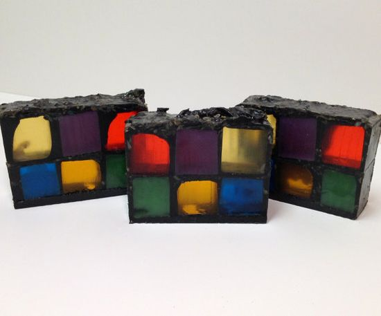 Stained Glass Gothic Handmade Soap by NakedBearSoapworks on Etsy,
