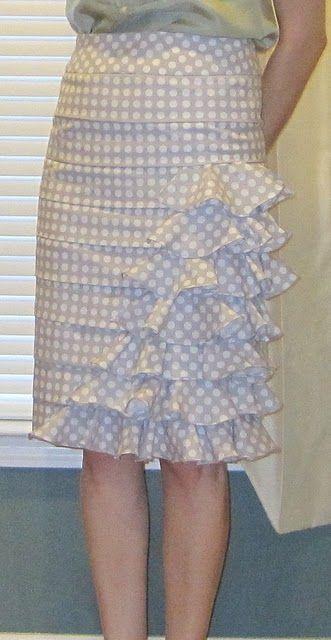 DIY anthropologie skirt.