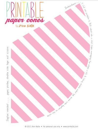 Printable paper cones