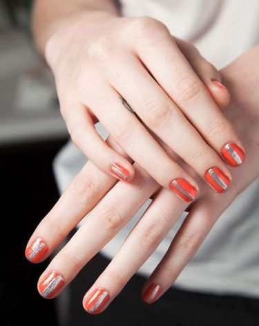 The Best Spring Nail Trends To Try Now- Flashes of Metallics