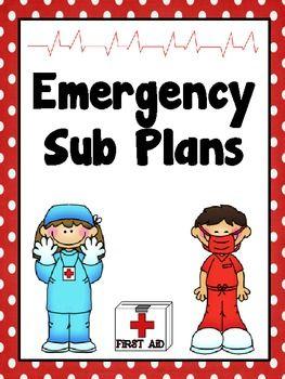 Emergency Sub Plans Forms  Free