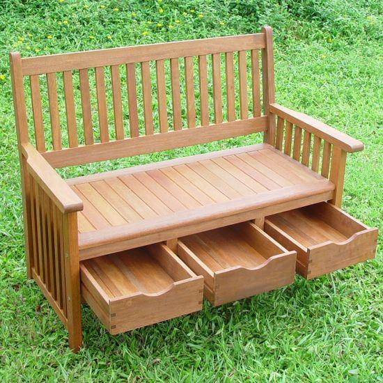 Идеи за градината: пейка с чекмеджета