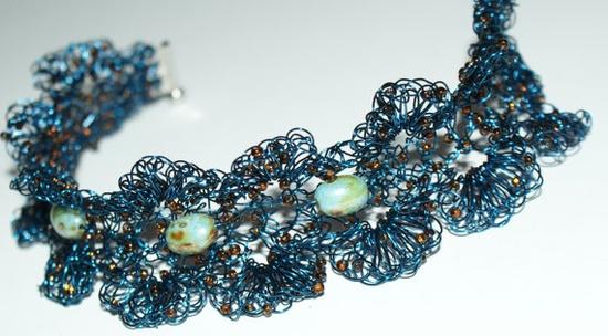 unique crocheted bracelet
